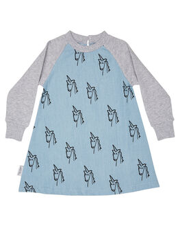 MULTI KIDS GIRLS TINY TRIBE DRESSES + PLAYSUITS - TTGW18-5011CMUL