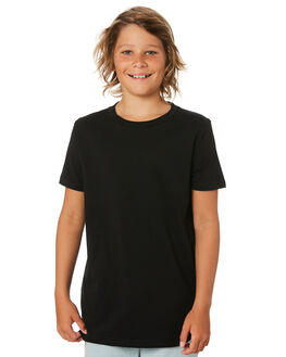BLACK KIDS BOYS AS COLOUR TOPS - 3006-BLK