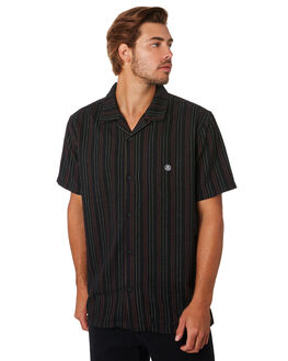 BLACK MENS CLOTHING STUSSY SHIRTS - ST092403BLK