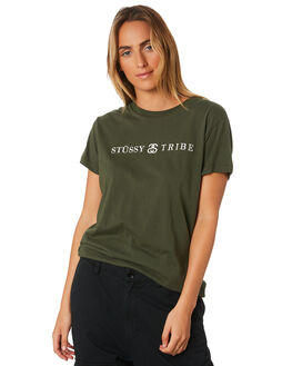 FLIGHT GREEN WOMENS CLOTHING STUSSY TEES - ST196010GRN
