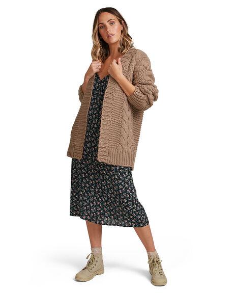 TAUPE WOMENS CLOTHING BILLABONG KNITS + CARDIGANS - BB-6517302-T12