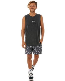 BLACK ACID MENS CLOTHING RVCA SINGLETS - R183001BACID
