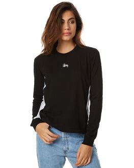 BLACK WOMENS CLOTHING STUSSY TEES - ST175116BLK