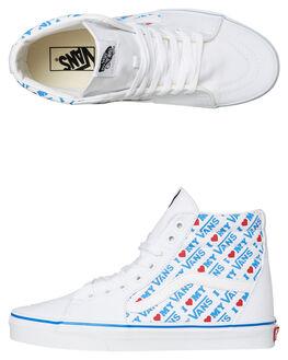 TRUE WHITE PRINT WOMENS FOOTWEAR VANS SNEAKERS - SSVNA38GEVP5TWHTW