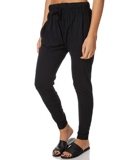 BLACK WOMENS CLOTHING SILENT THEORY PANTS - 6090036BLK