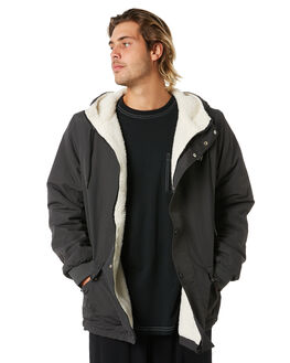 BLACK CREAM MENS CLOTHING STUSSY JACKETS - ST006509BLKCM