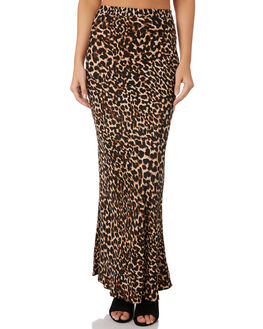 LEOPARD WOMENS CLOTHING TIGERLILY SKIRTS - T393279LEO