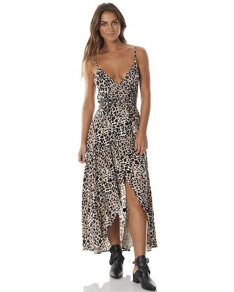 WILD LEOPARD WOMENS CLOTHING AUGUSTE DRESSES - AUG-SM1-16618WLEOP