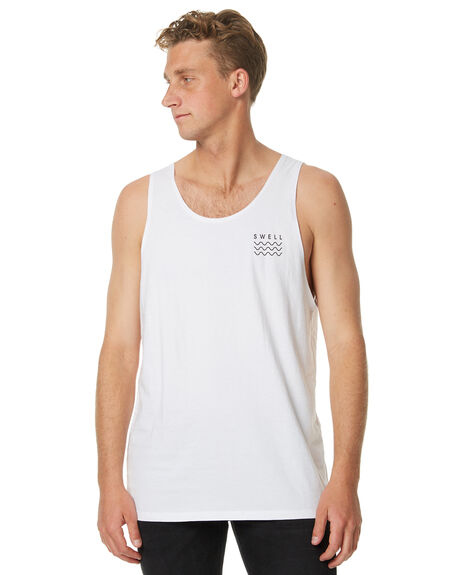 WHITE OUTLET MENS SWELL SINGLETS - S5161271WHT