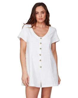 WHITE WOMENS CLOTHING BILLABONG PLAYSUITS + OVERALLS - BB-6592533M-WHT