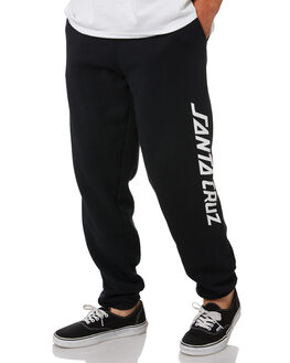 BLACK MENS CLOTHING SANTA CRUZ PANTS - SC-MFA0580BLK