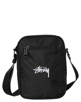 BLACK MENS ACCESSORIES STUSSY BAGS + BACKPACKS - ST791019BLK