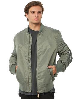SAGE GREEN MENS CLOTHING THRILLS JACKETS - TA8-206FSGRN