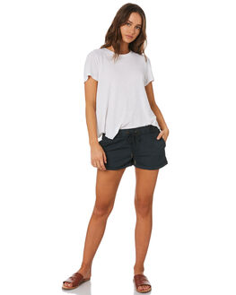 WASHED BLACK WOMENS CLOTHING SWELL SHORTS - S8173231BKWSH