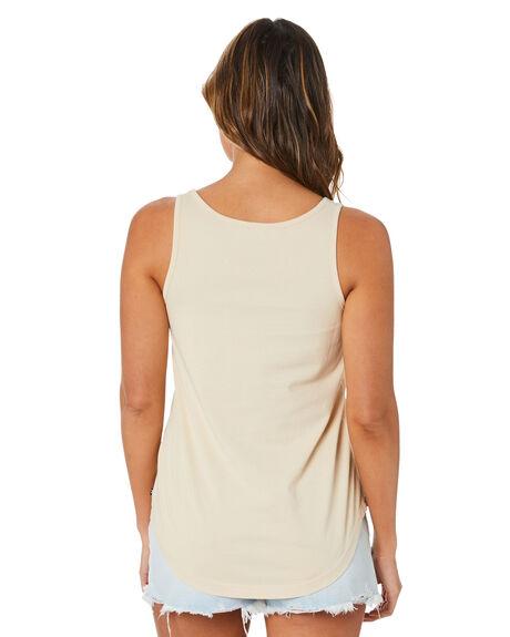 OATMEAL WOMENS CLOTHING RUSTY SINGLETS - TSL0582OAT