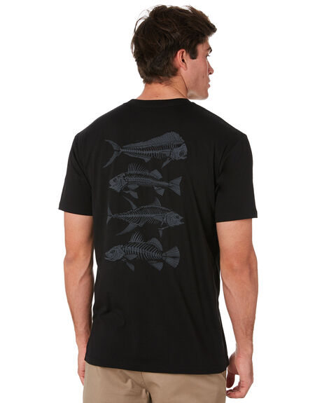 BLACK MENS CLOTHING DEPACTUS TEES - D5171002BLACK