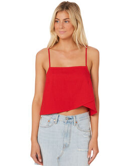 RED WOMENS CLOTHING ROLLAS FASHION TOPS - 12824RED