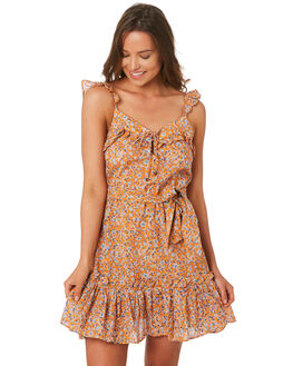ORANGE WOMENS CLOTHING TIGERLILY DRESSES - T392464ORA