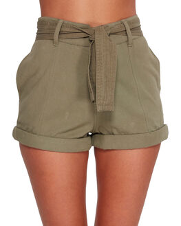 PALM GREEN WOMENS CLOTHING BILLABONG SHORTS - BB-6592277-PLM