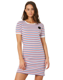 CALI STRIPE WOMENS CLOTHING SANTA CRUZ DRESSES - SC-WDC9923CALI
