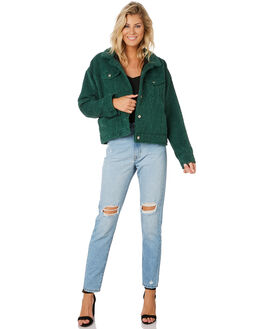 DEEP GREEN WOMENS CLOTHING DR DENIM JACKETS - 1931109311DGRN