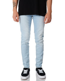 SHADED LIGHT BLUE MENS CLOTHING DR DENIM JEANS - 1330125-H63