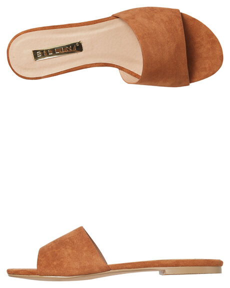 CHESNUT SUEDE OUTLET WOMENS BILLINI SLIDES - S546CHED