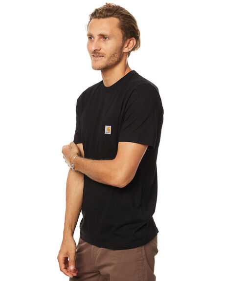 BLACK MENS CLOTHING CARHARTT TEES - IO220918900