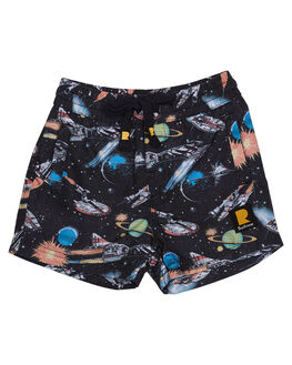 MULTI KIDS TODDLER BOYS ROCK YOUR BABY BOARDSHORTS - TBBSPACEINVADERSMUL