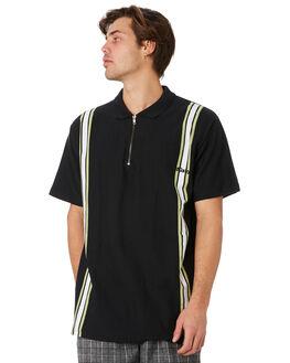 BLACK MENS CLOTHING STUSSY SHIRTS - ST092107BLK