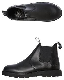 BLACK LEATHER WOMENS FOOTWEAR ROC BOOTS AUSTRALIA BOOTS - JUMBUKBLK