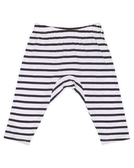 WHITE BLACK STRIPE KIDS BABY MUNSTER KIDS CLOTHING - MI172PA01WBS