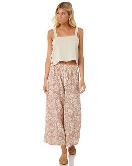 BLUSH FLORAL WOMENS CLOTHING SAINT HELENA PANTS - SH18S1844BLU