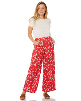RED MULTI WOMENS CLOTHING MINKPINK PANTS - MP1804430RED