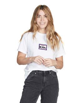 WHITE WOMENS CLOTHING QUIKSILVER TEES - EQWKT03017-WBB0