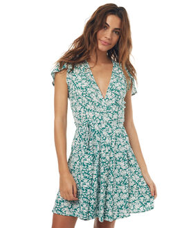 GREEN BLOSSOM WOMENS CLOTHING ROLLAS DRESSES - 124203212