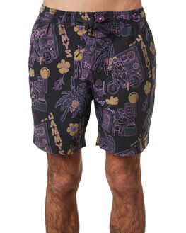 BLACK MENS CLOTHING THE CRITICAL SLIDE SOCIETY BOARDSHORTS - BS1922BLK