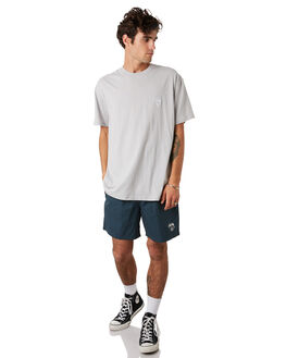 FLAT GREY MENS CLOTHING STUSSY TEES - ST092011FGREY