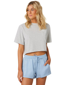 NAVY WHITE STRIPE WOMENS CLOTHING SWELL TEES - S8184005NVYWH