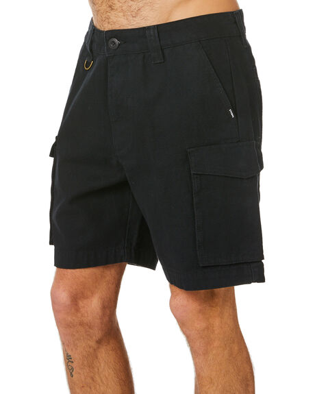 BLACK MENS CLOTHING THRILLS SHORTS - TH20-321BBLK