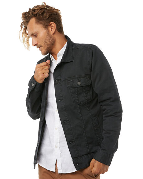 PIRATE BLACK MENS CLOTHING RVCA JACKETS - R183439PBLK
