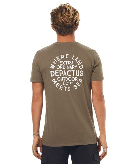 WASHED OLIVE MENS CLOTHING DEPACTUS TEES - D5171003WSHOL