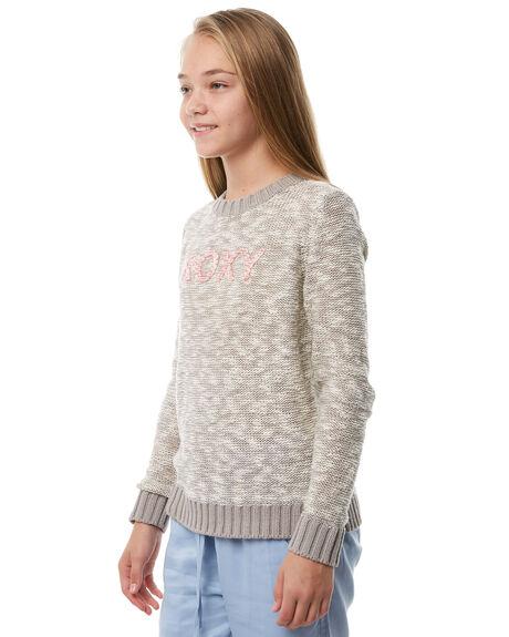 HERITAGE HEATHER KIDS GIRLS ROXY JUMPERS + JACKETS - ERGSW03042SGRH