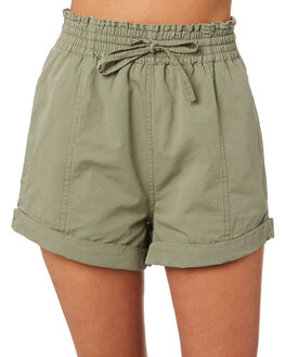 LIGHT OLIVE WOMENS CLOTHING THE HIDDEN WAY SHORTS - H8202234LTOLV