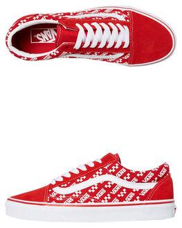 RACING RED WOMENS FOOTWEAR VANS SNEAKERS - SSVN0A4U3BW35RREDW