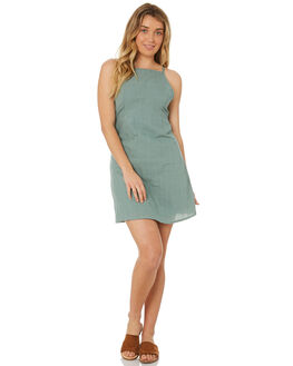 SEA GREEN WOMENS CLOTHING ALL ABOUT EVE DRESSES - 6426031GRN