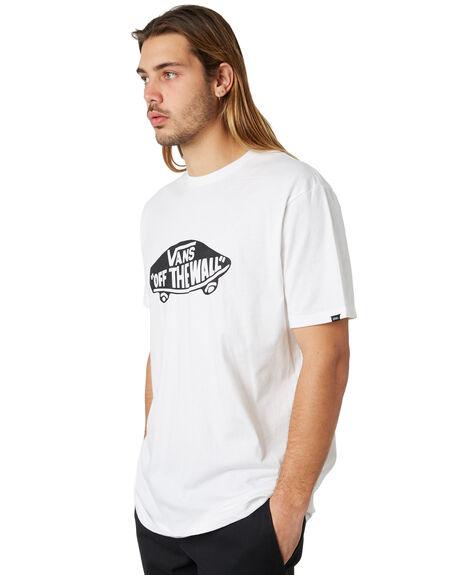 WHITE BLACK MENS CLOTHING VANS TEES - VN-0JAYYB2
