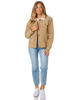 LIGHT FENNEL WOMENS CLOTHING RUSTY JACKETS - JKL0370LFN