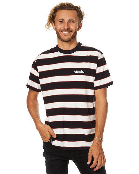 BLACK NATURAL MENS CLOTHING AFENDS TEES - 01-11-012BLKN