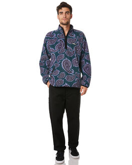 PAISLEY TEAL MENS CLOTHING OBEY JUMPERS - 111620048TEA